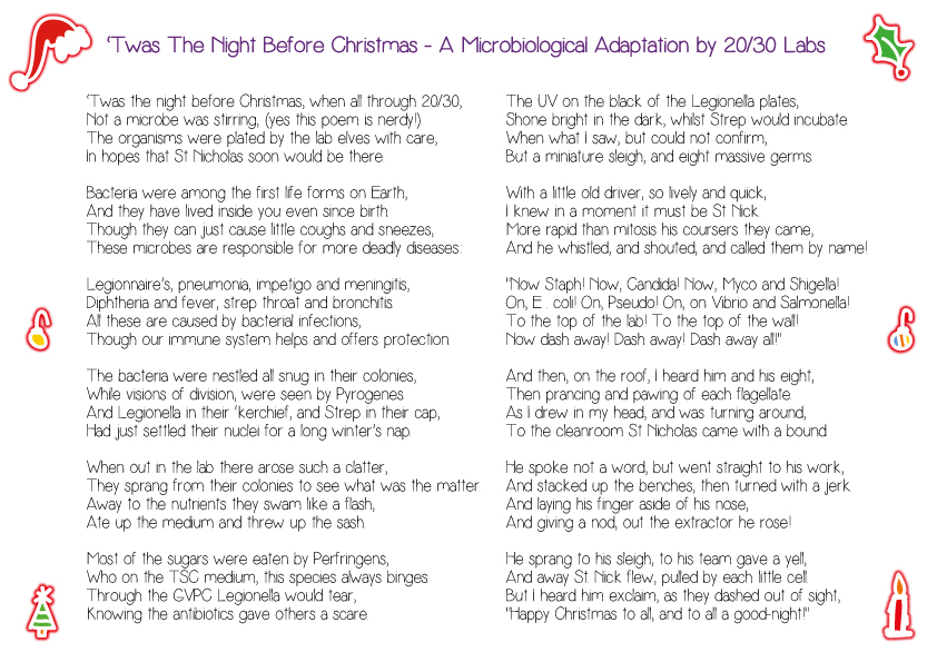 20/30 Labs | Microbiological 'Twas The Night Before Christmas