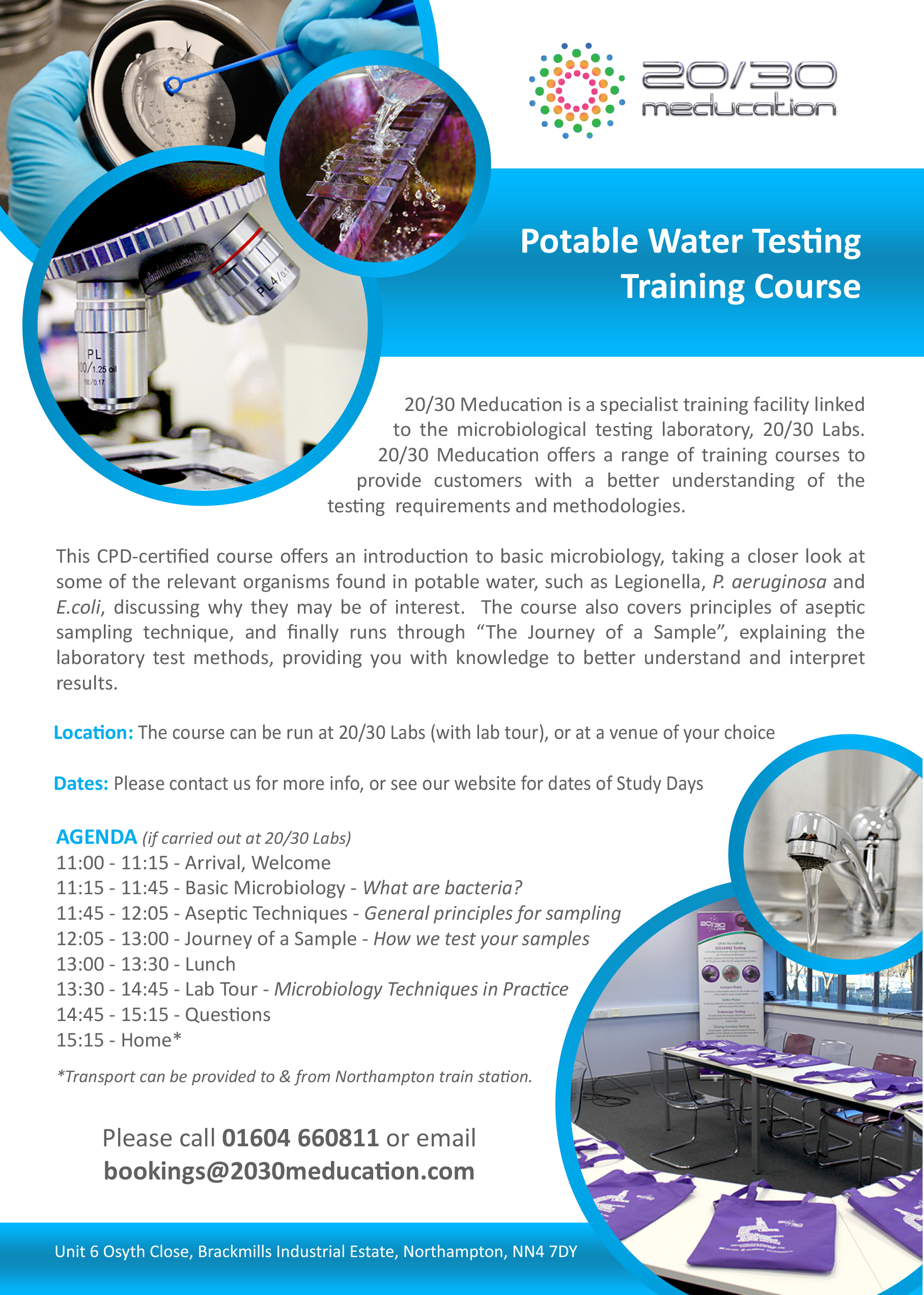 20/30 Labs   Study Day - Potable Water Testing - 20/30 Labs